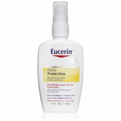 2 Pack EUCERIN Daily Protection FACE LOTION, SPF 30, Sensitive Skin, 4 oz.
