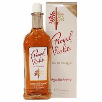 Agustin Reyes Royal Violet Splash Cologne Classic Glass Bottle 5 oz