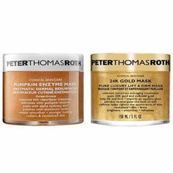 Bundle - 2 items: Peter Thomas Roth Pumpkin Enzyme Mask, 5 Oz & 24K Gold Pure luxury Mask, 5 oz