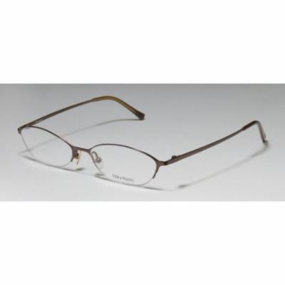 Vera Wang V101 50-17-135 Dark Brown Half-Rim Eyeglasses Frame
