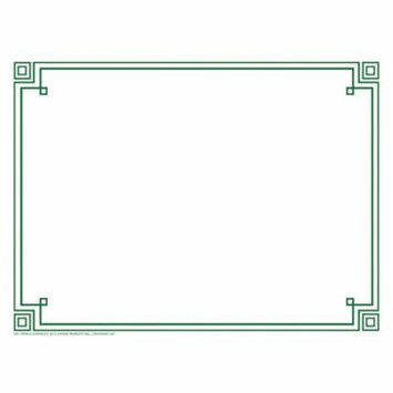 FOUR SQUARE BORDER PAPER GREEN