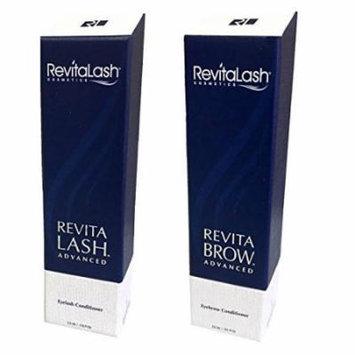 Bundle - 2 items: Revitalash Advanced Eyelash Conditioner, 0.118 oz with RevitaBrow Eyebrow Conditioner 0.101 oz
