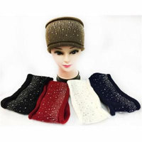 DDI 1935396 Knitted Solid Color Headband With Rhinestones
