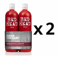 TIGI Bed Head Resurrection (2) Shampoo/(2) Conditioner (25.36oz x4) Double Duo
