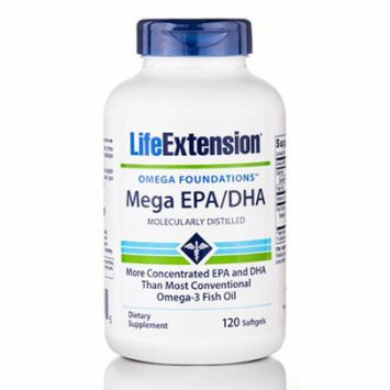 Omega Foundations� Mega EPA/DHA (Molecularly Distilled) - 120 Softgels by Life E