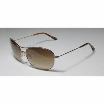 Kensie Subtly Confident 61-14-140 Shiny Gold Full-Rim Sunglasses