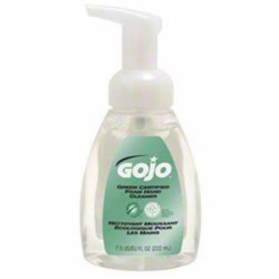 GOJO 571506CT Green Certified Foam Soap, Fragrance-Free, Clear, 7.5 oz. Pump Bottle, Pack of 6