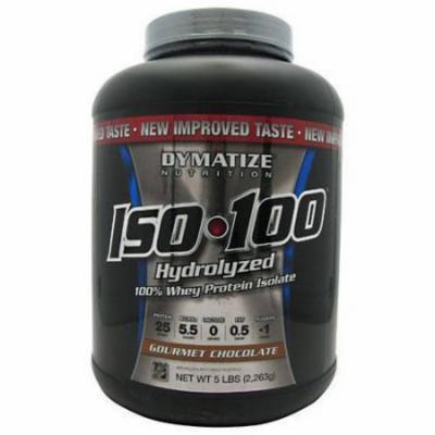 Dymatize Iso-100, Gourmet Chocolate, 5 LB