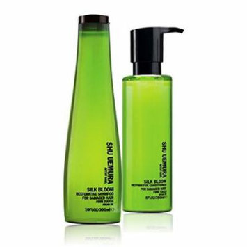 Bundle - 2 items: Shu Uemura Silk Bloom Restorative Shampoo, 10 Oz & Silk Bloom Restorative Conditioner, 8 Oz