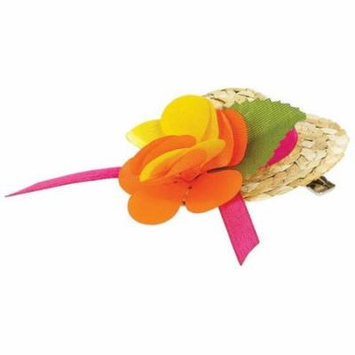 Amscan 393929 Mini Straw Hat Hair Clips - Pack of 12