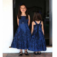 Angels Garment Navy Floral Rhinestone Christmas Dress Toddler Girls 3T