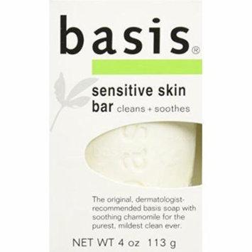 3 Pack Basis Sensitive Skin Bar Soap 4 oz (113 g)