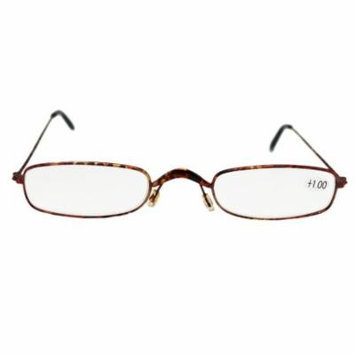 Extra Narrow Lenses With pink Hue Frame Reading Glasses (+1.00)