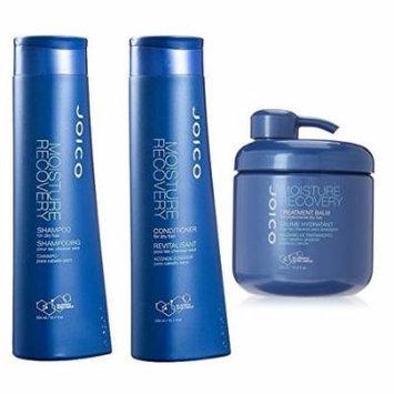 Joico Moisture Recovery Shampoo 10.1 oz & Joico Moisture Recovery Conditioner 10.1 oz & Joico Moisture Recovery Treatment Balm 16.9 oz