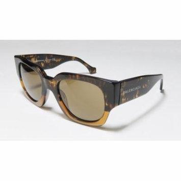 Balenciaga Ba0011 51-21-135 Transparent Brown Pattern Full-Rim Sunglasses