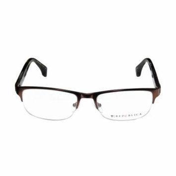 Republica Jtown 54-18-140 Brown / Tortoise Half-Rim Eyeglasses Frame