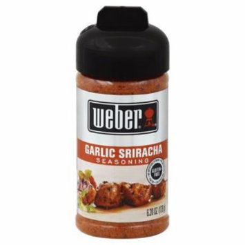 WEBER SPICE GARLIC SRIRACHA, 6.2 OZ (Pack of 8)