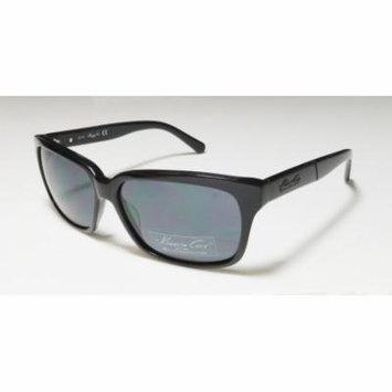 Kenneth Cole 7162 57-14-140 Black Full-Rim Sunglasses