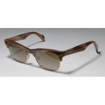 Prada Spr11p 54-19-145 Brown Horn / Gold Full-Rim Sunglasses