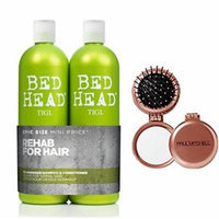 Bed Head Re-Energize Shampoo and Conditioner Duo, 25.36 oz & Bonus Paul Mitchell Compact Mirror