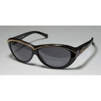 Dsquared2 0018 60-11-135 Black / Shiny Gold Full-Rim Sunglasses