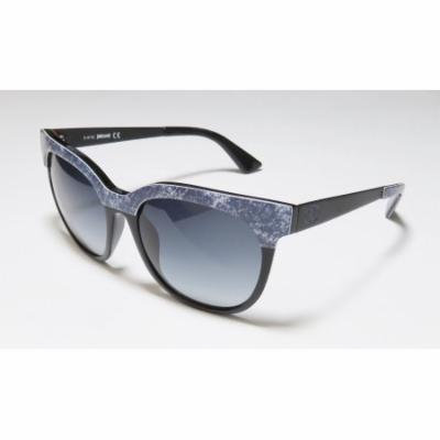 Just Cavalli Jc501s 54-18-140 Black / Denim Pattern Full-Rim Sunglasses