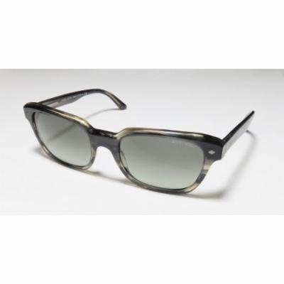 Giorgio Armani 8067 53-19-140 Transparent Gray / Honey Full-Rim Sunglasses