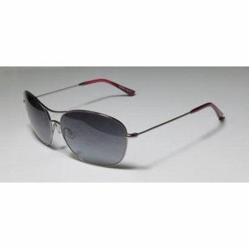 Kensie Subtly Confident 61-14-140 Shiny Gunmetal Full-Rim Sunglasses