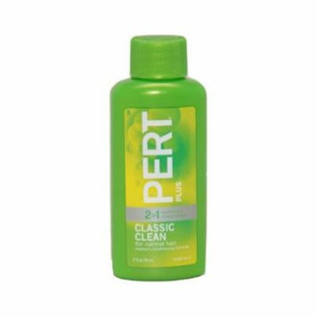 Pert Plus Shampoo Classic Clean Plus Conditioner 1.7 Fl OZ Travel Size (2 PACK)