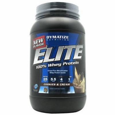 Dymatize 100% Whey Protein, Cookies & Cream, 2 LB