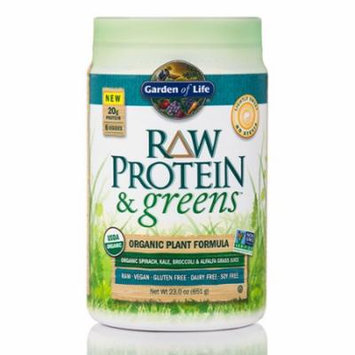 Raw Protein and Greens Lightly Sweet - 23 oz (651 Grams) by Garden of Life