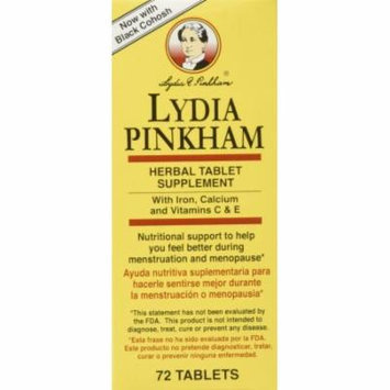 6 Pack Lydia Pinkham Herbal Tablets - 72 Tablets Each