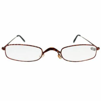 Extra Narrow Lenses Pink Colored Frame Reading Glasses (+2.50)