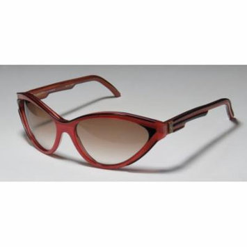 Ysl 8614 0-0-0 Black / Raspberry / Coral Full-Rim Sunglasses