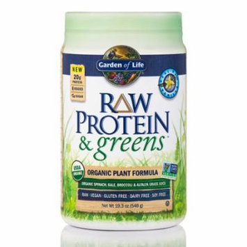 Raw Protein and Greens Vanilla - 19.3 oz (548 Grams) by Garden of Life