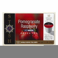 STASH TEAS TEA GREEN POMGRANTE RASPBERRY, 12 PC (Pack of 6)