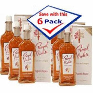 Agustin Reyes Royal Violet Splash Cologne Classic Glass Bottle 5 oz Pack of 6