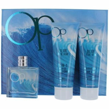Ocean Pacific Blue 3 Piece Eau De Toilette Gift Set for Him