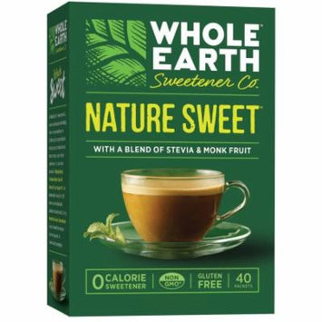 Whole Earth Sweetener Co. Nature Sweet Zero Calorie Sweetener, 40 count