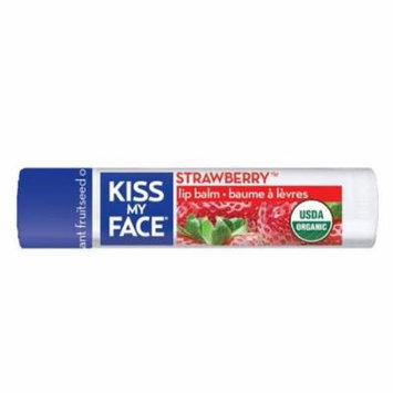 Kiss My Face BCA72914 Og2 Strawberry Lip Balm Refil, 6 x 0. 18 oz