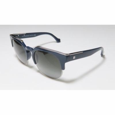 Balenciaga Ba21 54-20-140 Navy / Gunmetal Full-Rim Sunglasses