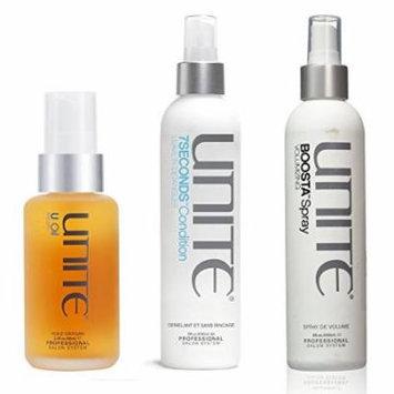 Unite Boosta Volumizing Spray 8oz & Unite 7Seconds Detangler 8oz & Unite Argan Oil 3.3oz