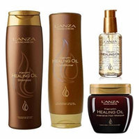 Lanza Keratin Healing Oil Shampoo 10.1 & Conditioner 8.5 oz Duo & Lanza Keratin Healing Oil Treatment 3.4 Ounces, L'anza Keratin Healing Oil Intensive Hair Masque 7.1 Ounces