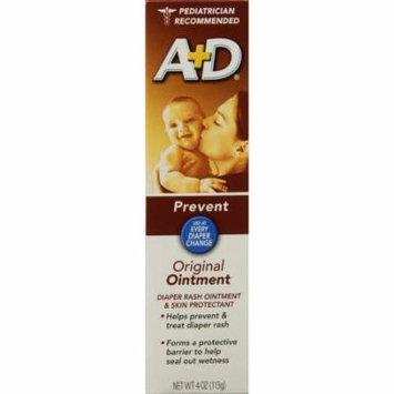 A + D Original Ointment, Diaper Rash & Skin Protectant - 4 oz tube (Pack of 4)