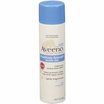 Aveeno Positively Smooth Shave Gel 7 oz (198 g) Pack of 3
