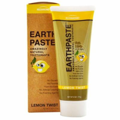 Toothpaste - All Natural Lemon Twist with Essential Oils & Xylitol - EarthPaste (R) by Redmond