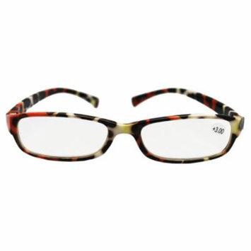 Narrow Lenses Cheetah Spot Frame Reading Glasses (+3.00)