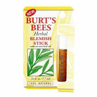 3 Pack Burt's Bees Herbal Blemish Stick 0.26 oz Each