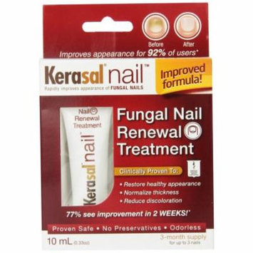 3 Pack Kerasal Nail Fungal Nail Renewal Treatment, 10 mL / 0.33 oz