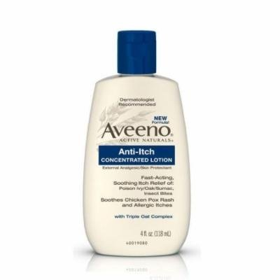 3 Pack Aveeno Anti-Itch Concentrated Lotion - 4 oz Each